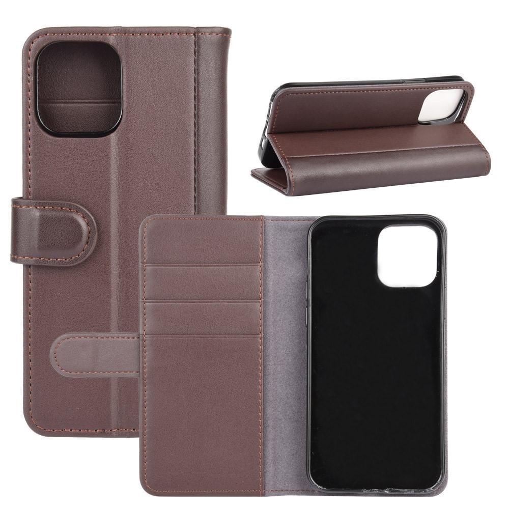 Äkta Läderfodral iPhone 12 Mini brun