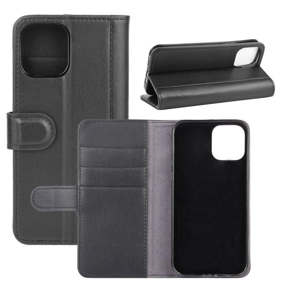 Äkta Läderfodral iPhone 12 Mini svart