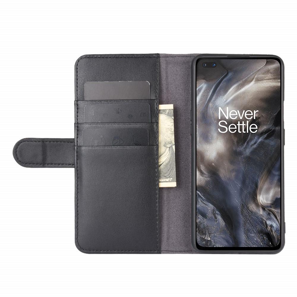 Äkta Läderfodral OnePlus Nord svart