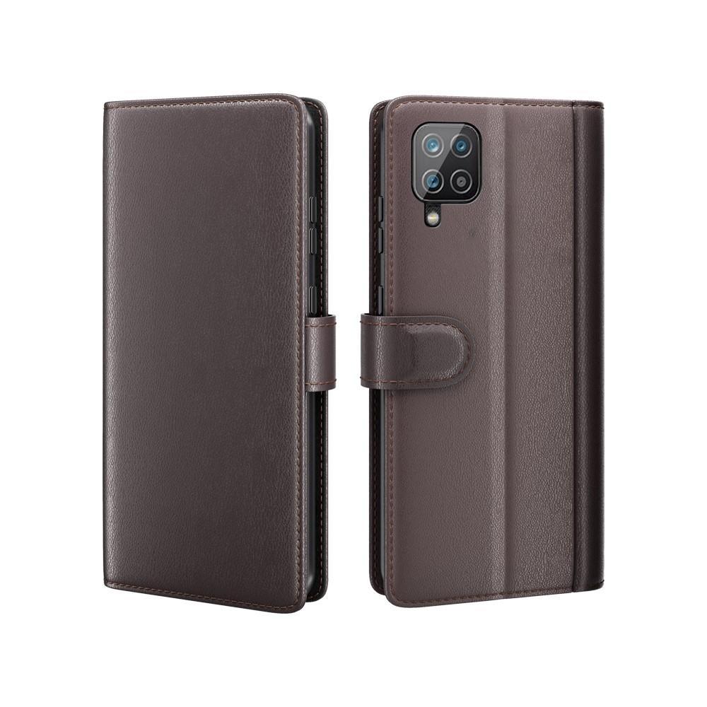 Äkta Läderfodral Samsung Galaxy A12 brun