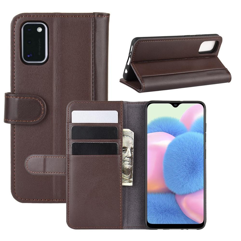Äkta Läderfodral Samsung Galaxy A41 brun