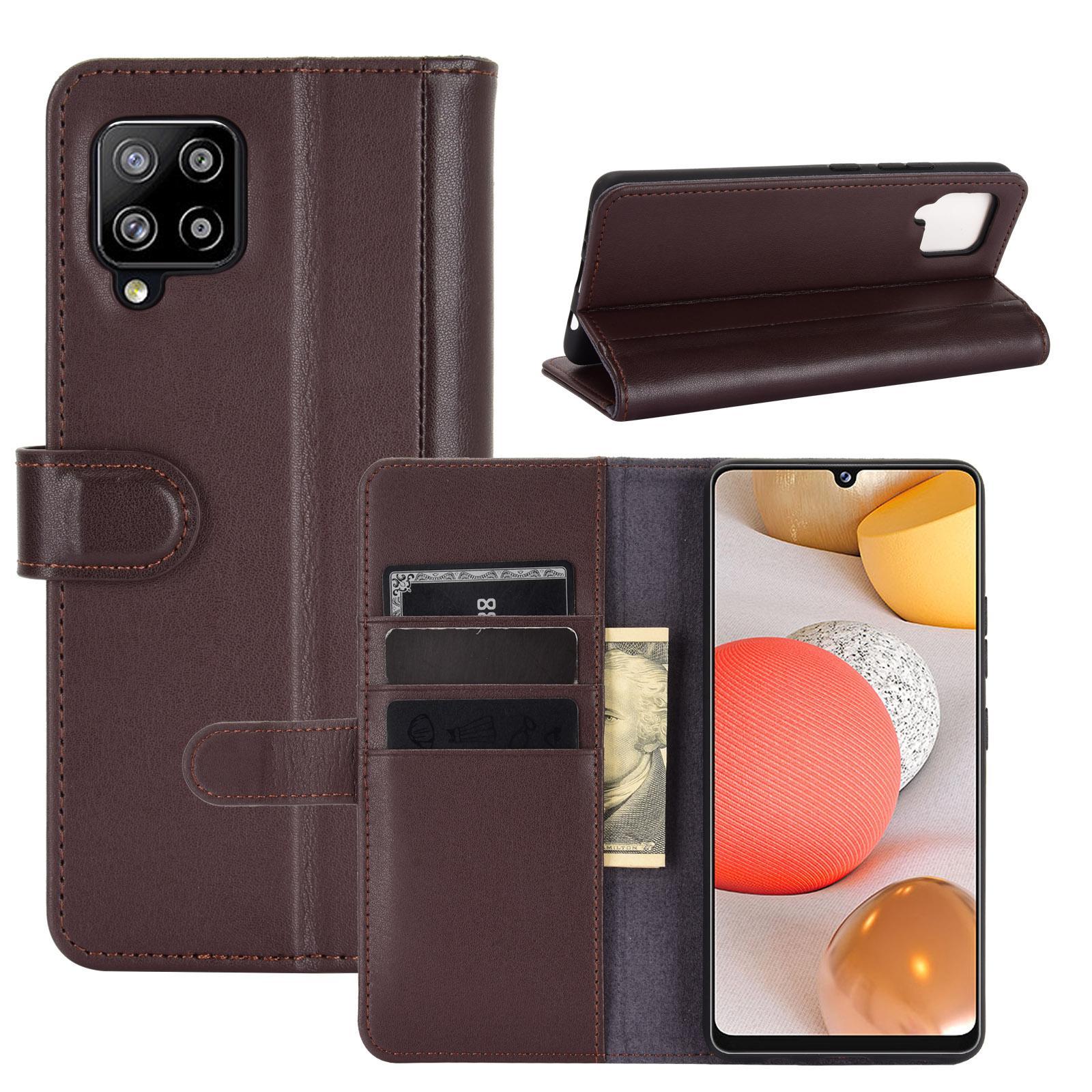 Äkta Läderfodral Samsung Galaxy A42 5G brun