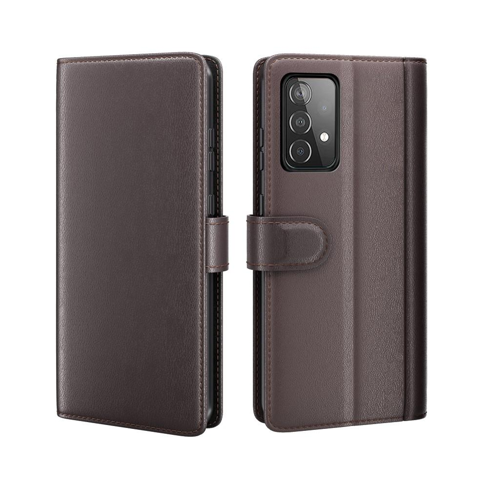 Äkta Läderfodral Samsung Galaxy A52 brun