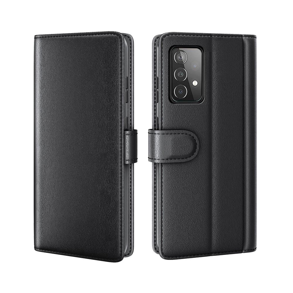 Äkta Läderfodral Samsung Galaxy A52 svart