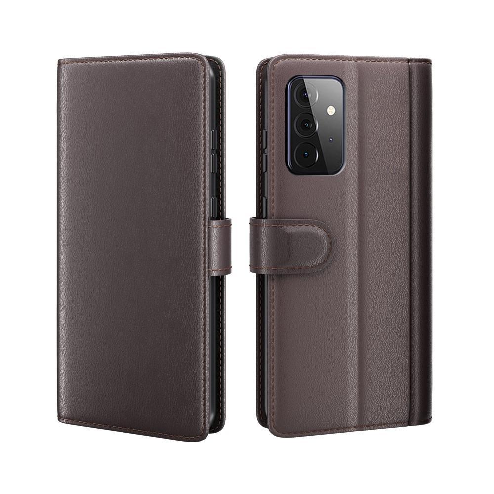 Äkta Läderfodral Samsung Galaxy A72 5G brun