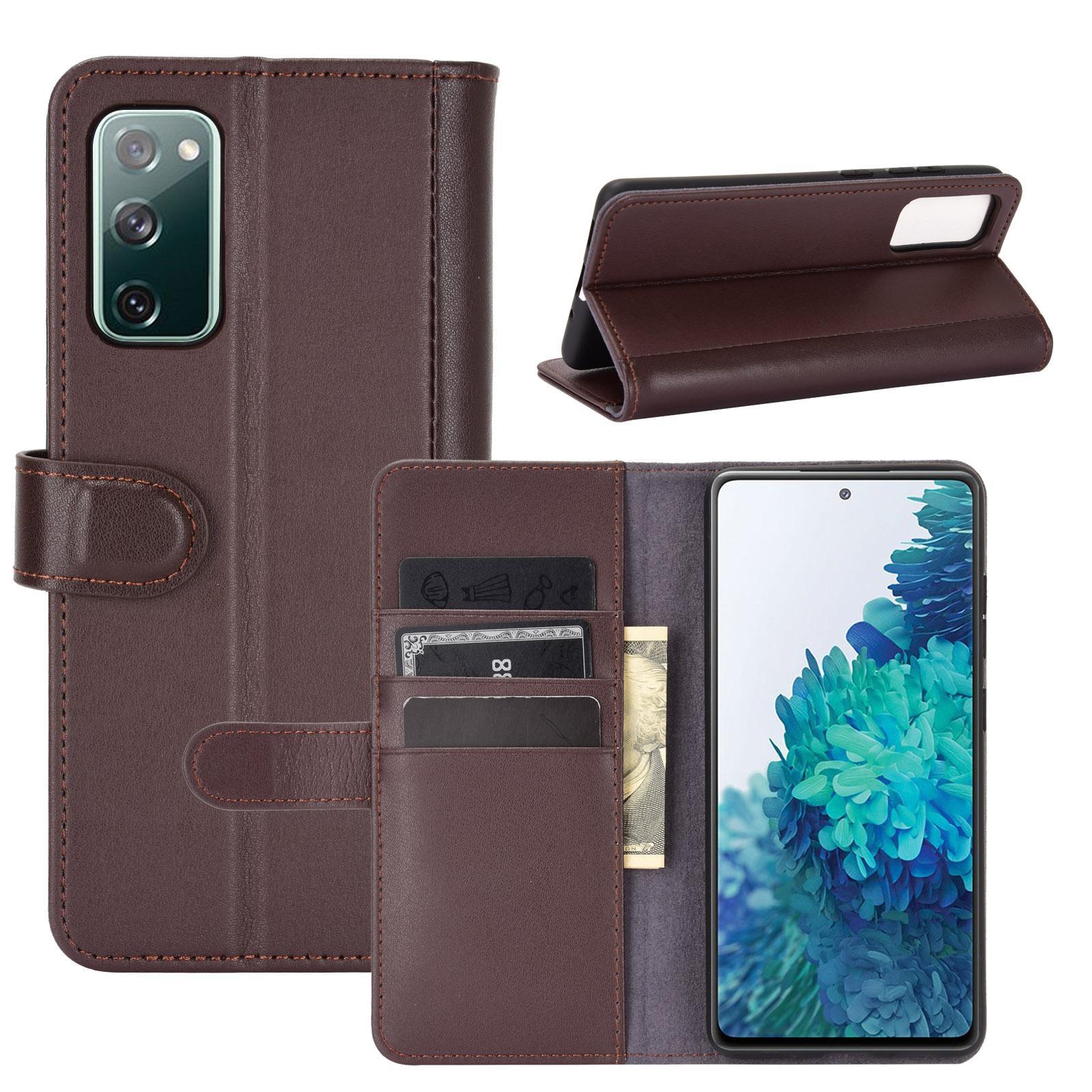 Äkta Läderfodral Samsung Galaxy S20 FE brun