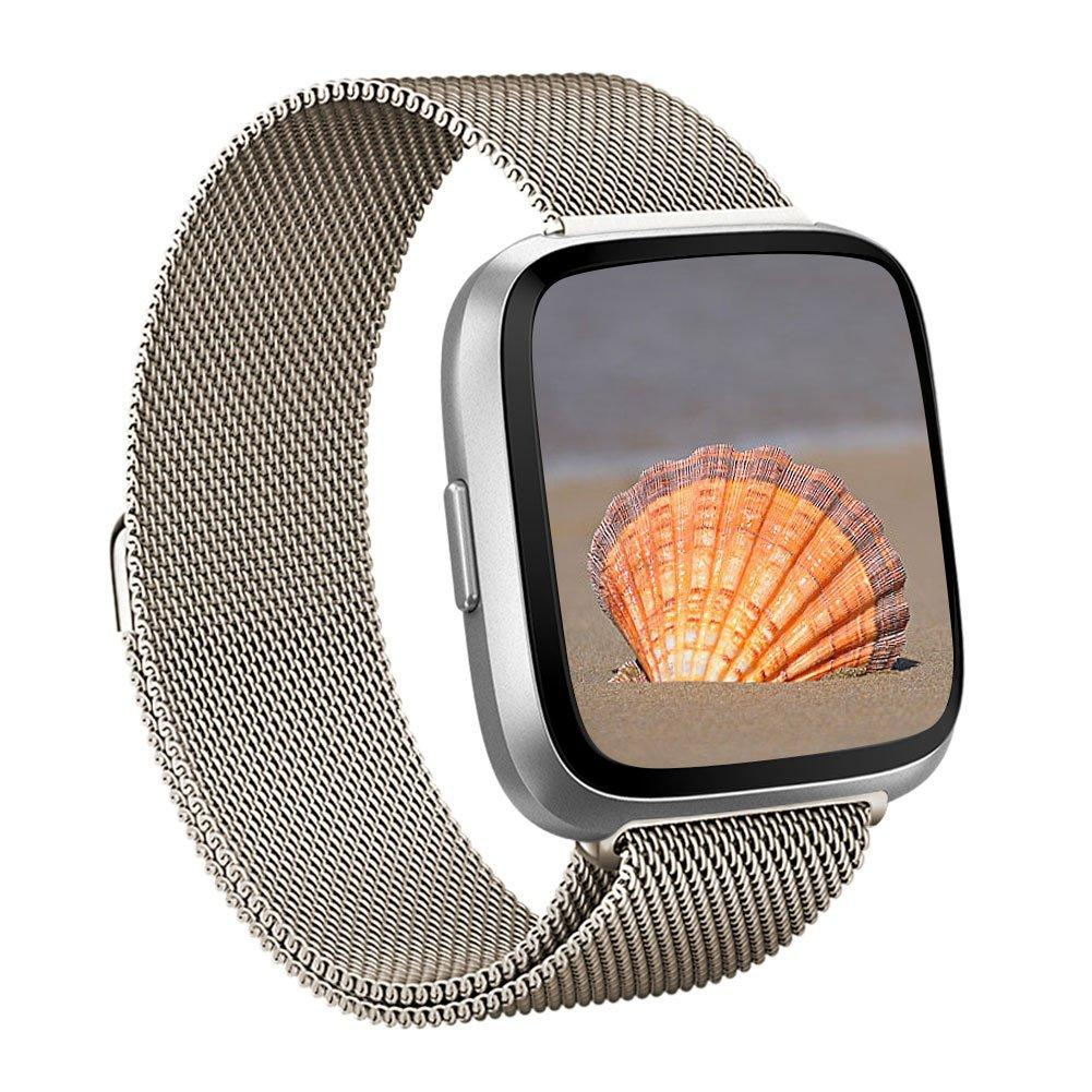 Armband Milanese Fitbit Versa 3/Sense guld