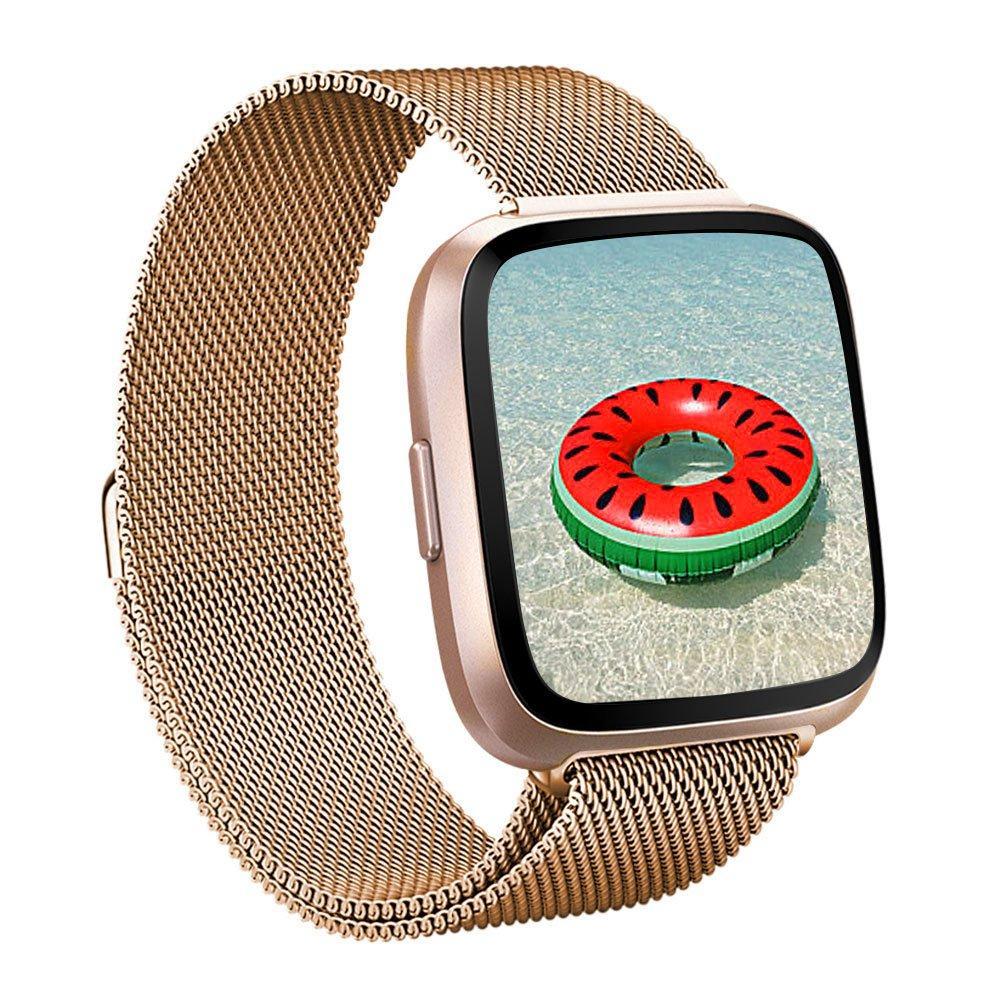 Armband Milanese Fitbit Versa 3/Sense roséguld