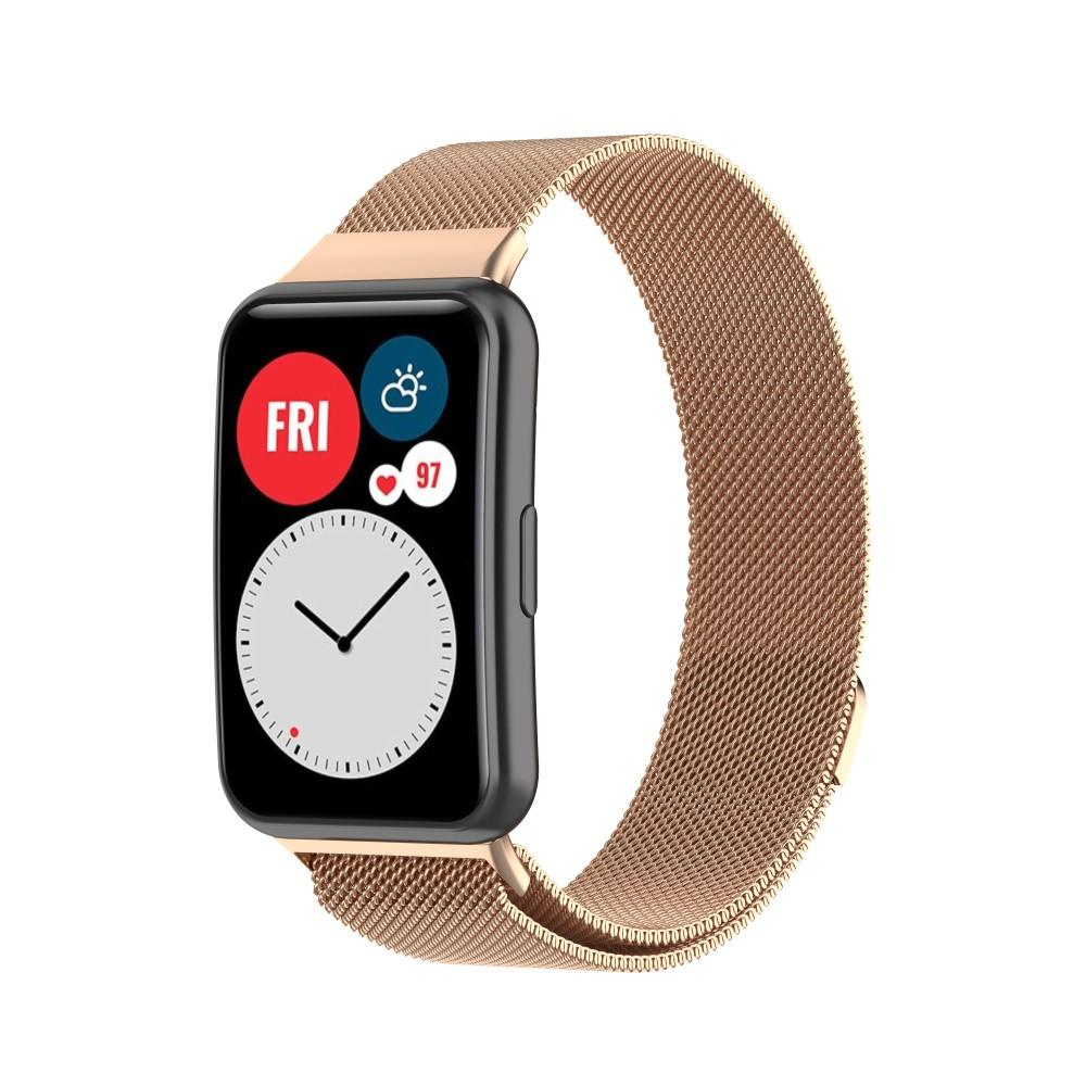 Armband Milanese Huawei Watch Fit roséguld