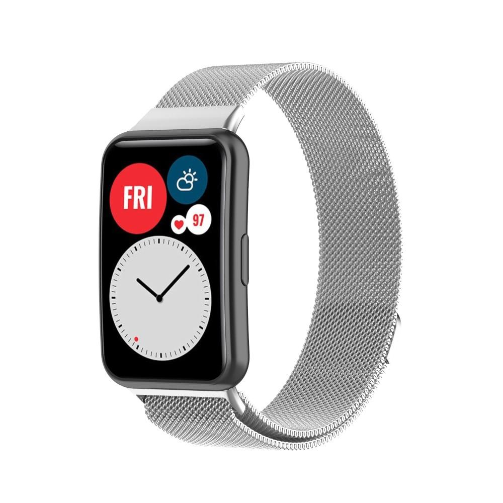 Armband Milanese Huawei Watch Fit silver