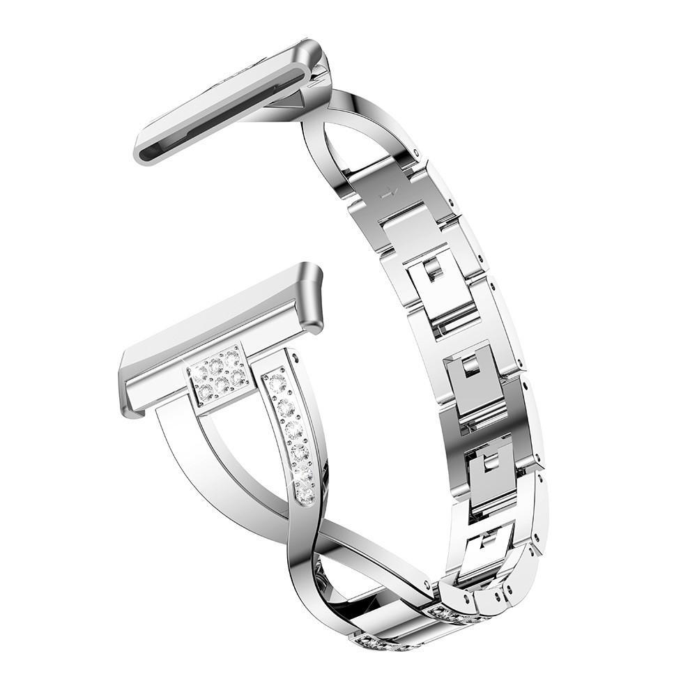 Crystal Bracelet Fitbit Versa 3/Fitbit Sense Silver