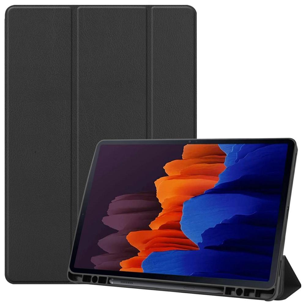 Fodral Tri-fold med S Pen-hållare Galaxy Tab S7 Plus 12.4 svart