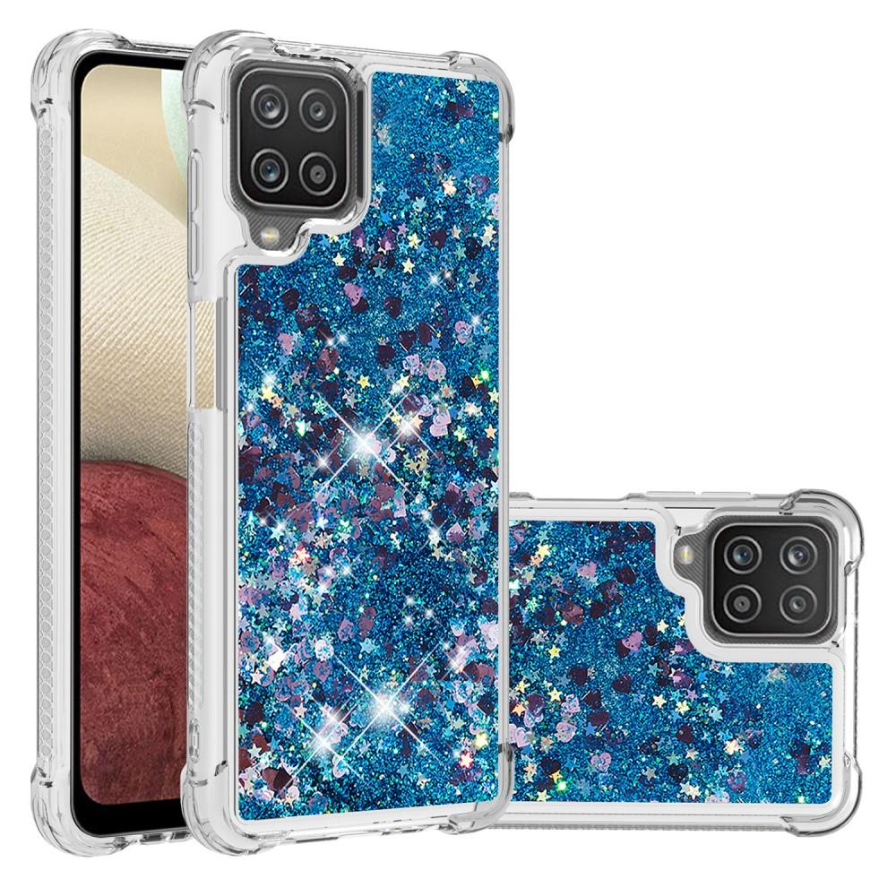 Glitter Powder TPU Case Galaxy A12 Blå