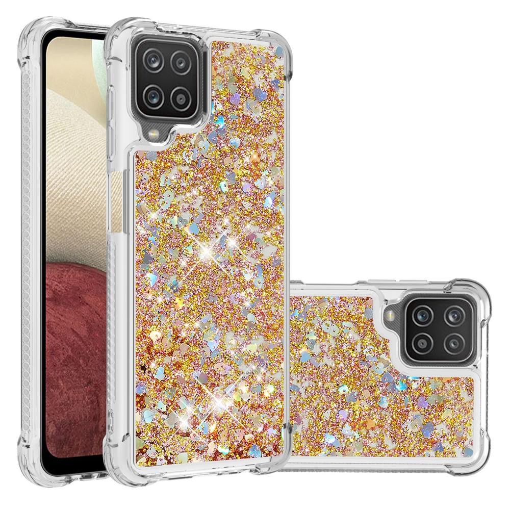 Glitter Powder TPU Case Galaxy A12 Guld