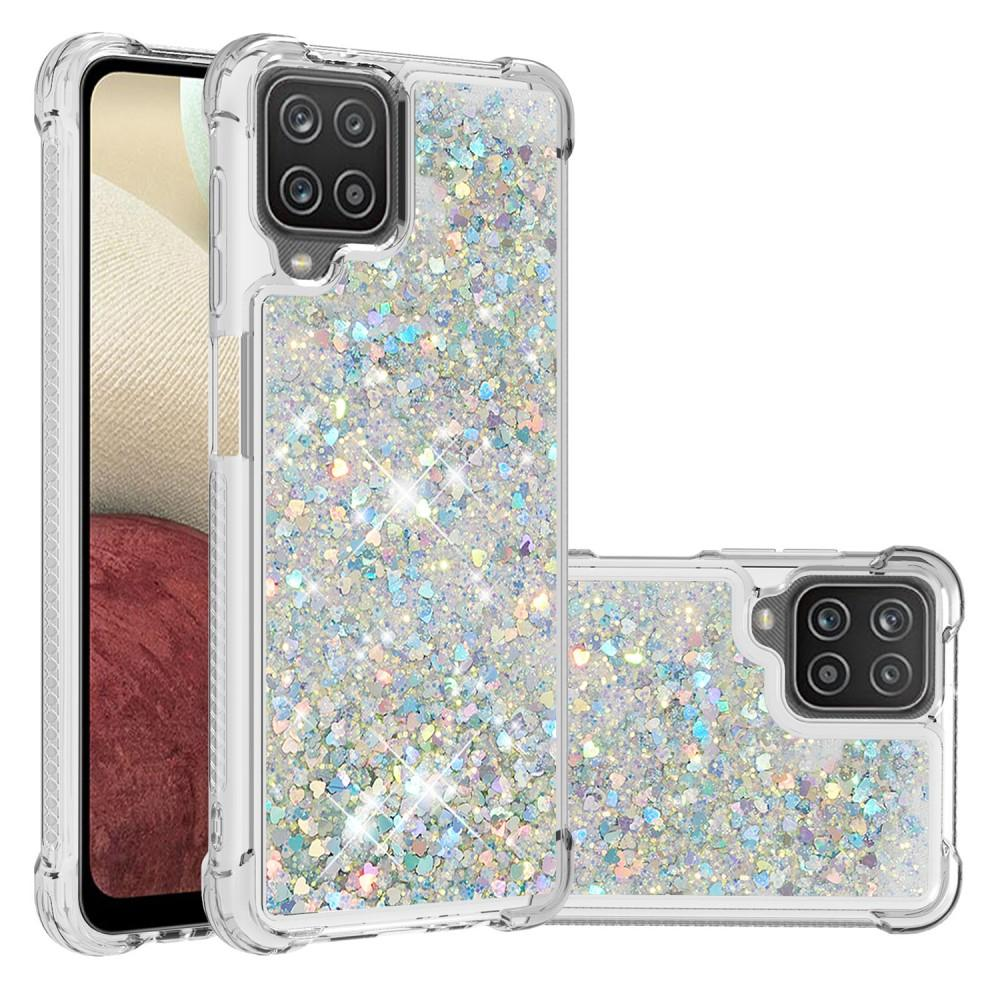 Glitter Powder TPU Case Galaxy A12 Silver