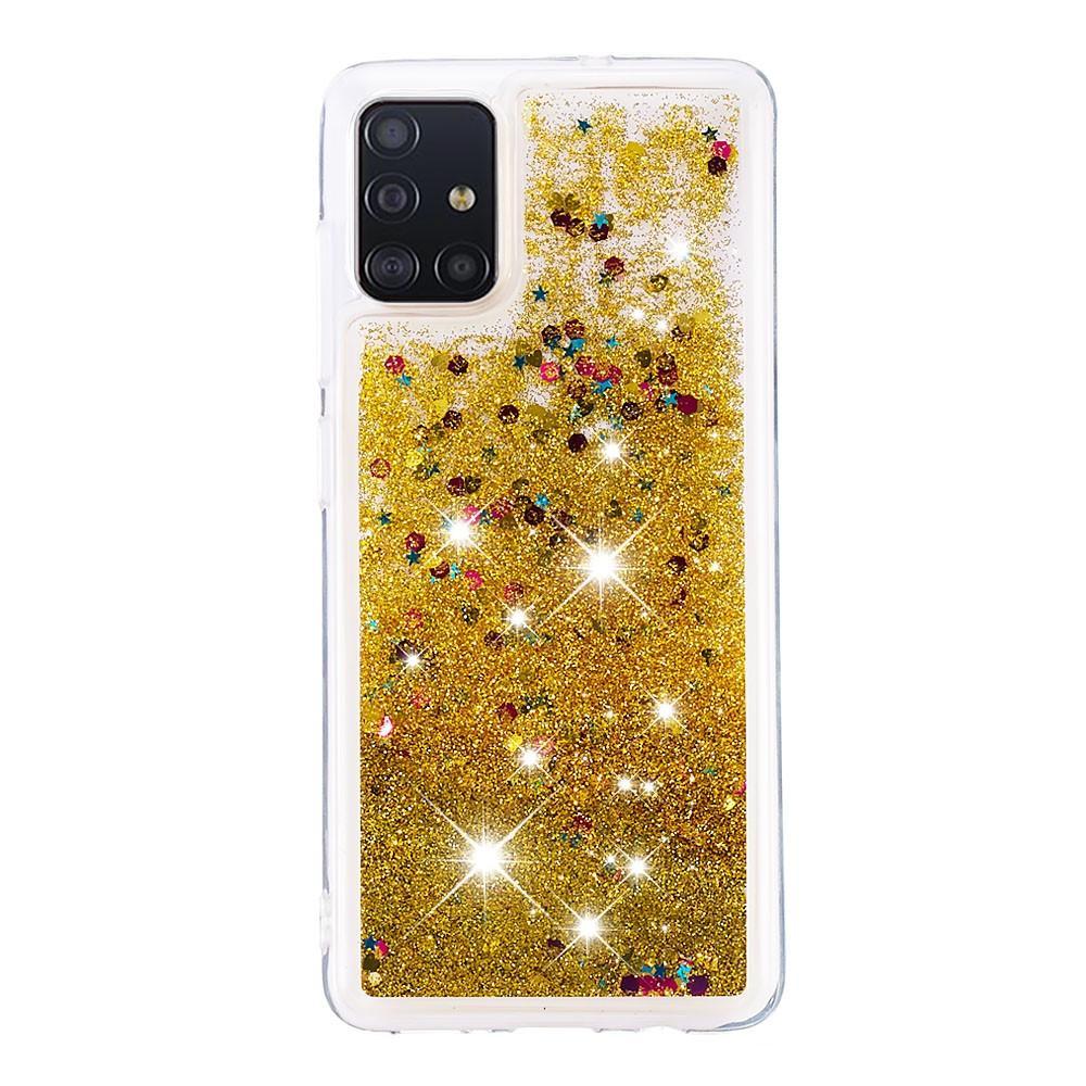 Glitter Powder TPU Case Galaxy A51 Guld