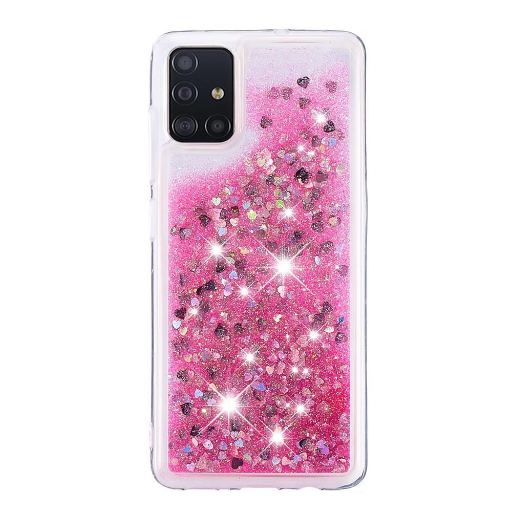 Glitter Powder TPU Case Galaxy A51 Rosa