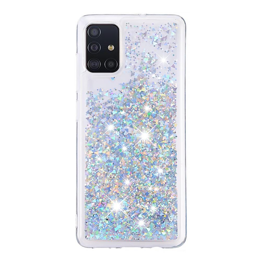 Glitter Powder TPU Case Galaxy A51 Silver