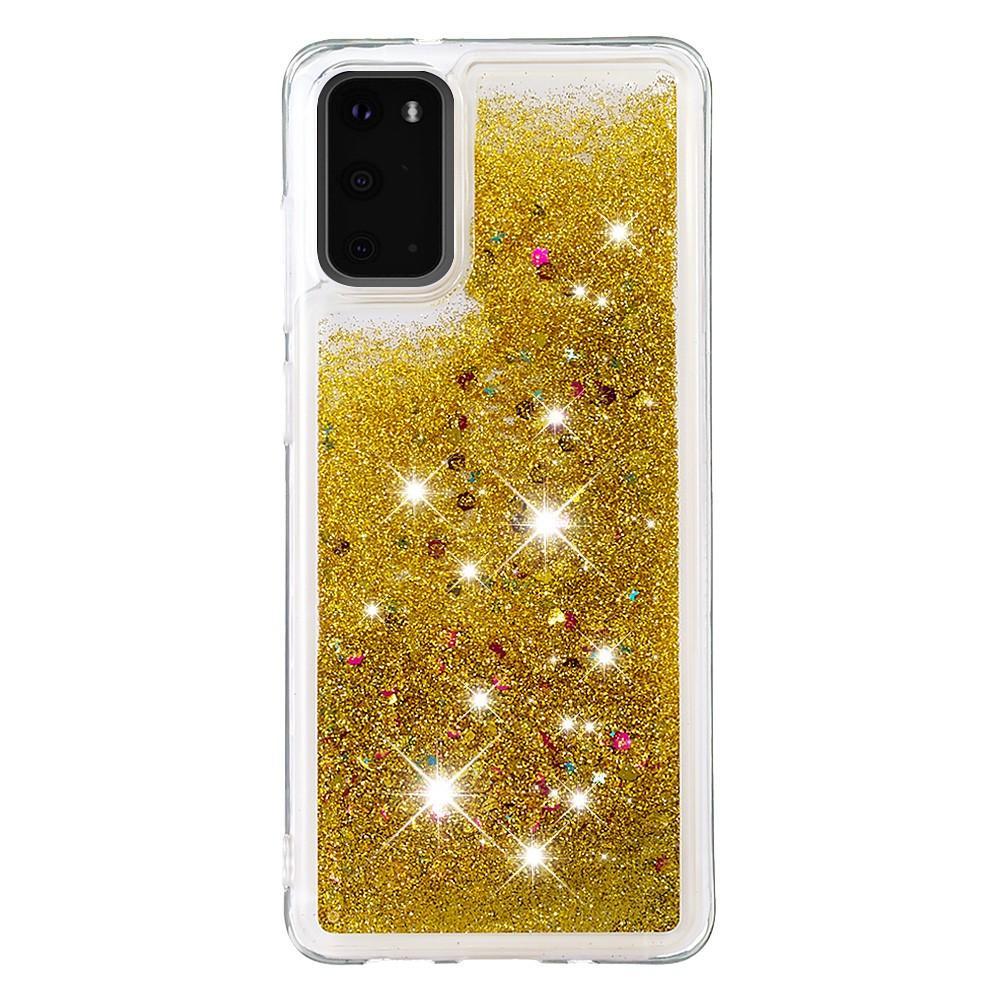 Glitter Powder TPU Case Galaxy S20 Guld