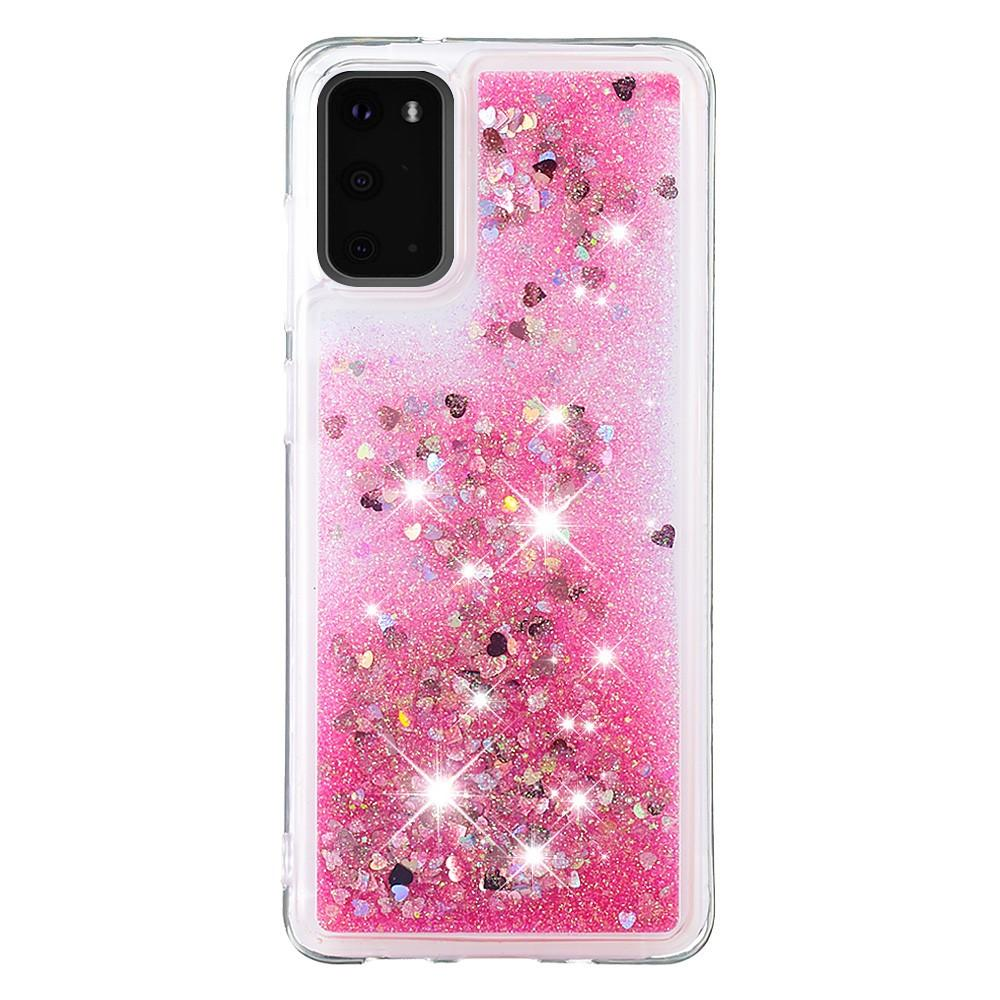 Glitter Powder TPU Case Galaxy S20 Rosa