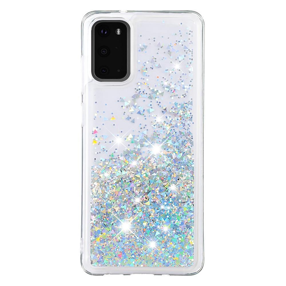 Glitter Powder TPU Case Galaxy S20 Silver