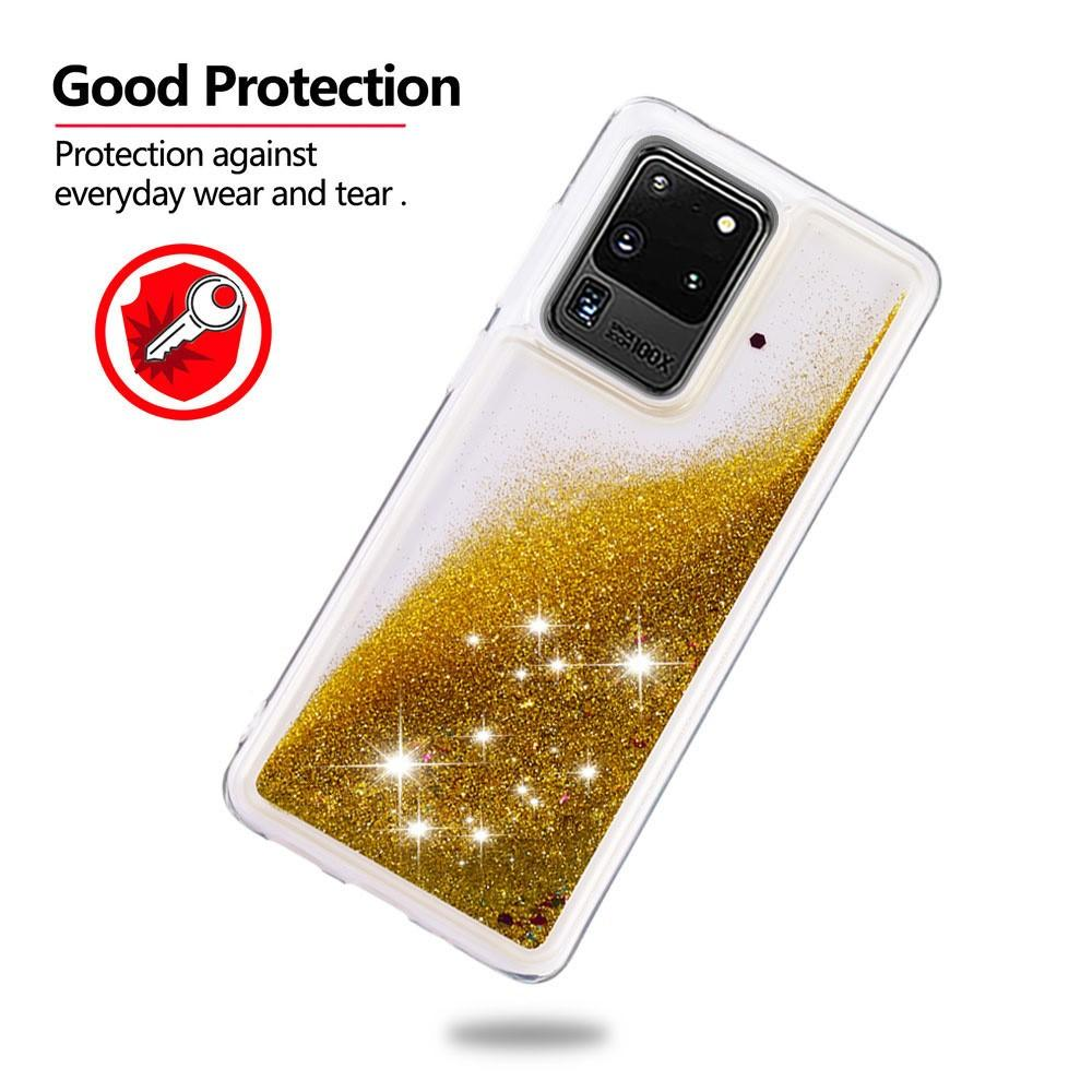Glitter Powder TPU Case Galaxy S20 Ultra Guld