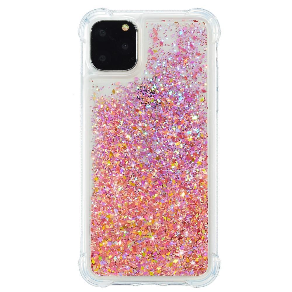Glitter Powder TPU Case iPhone 12 Mini rosa