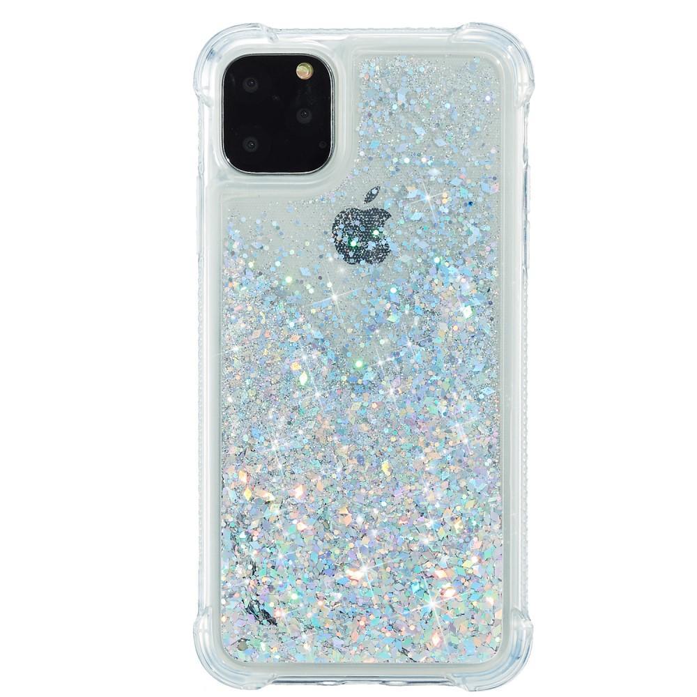 Glitter Powder TPU Case iPhone 12 Mini silver