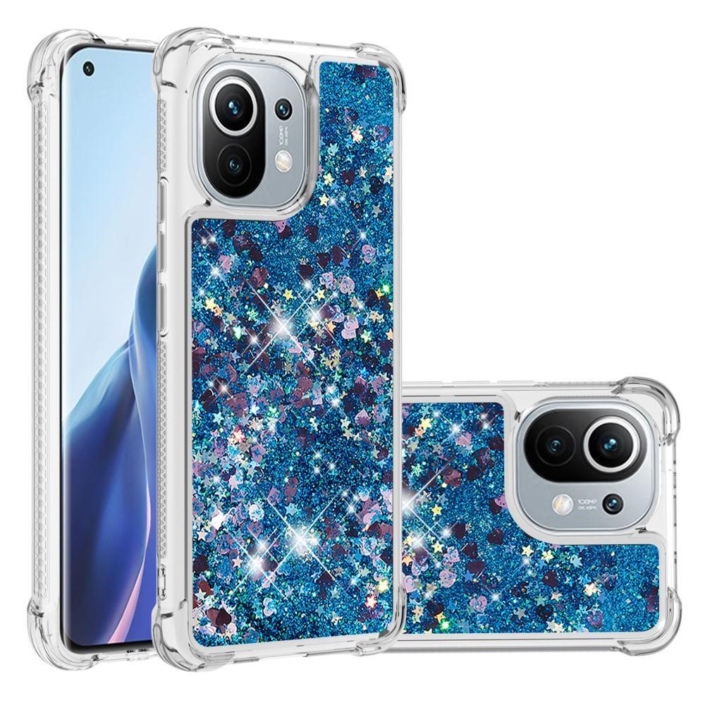 Glitter Powder TPU Case Xiaomi Mi 11 blå