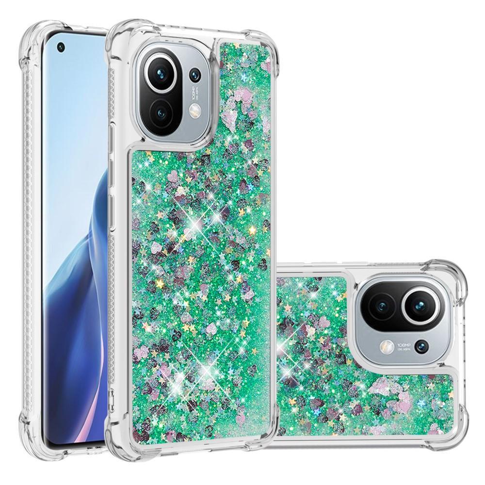 Glitter Powder TPU Case Xiaomi Mi 11 grön