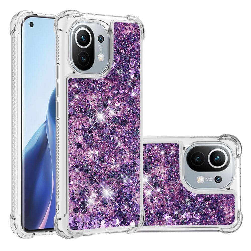 Glitter Powder TPU Case Xiaomi Mi 11 lila