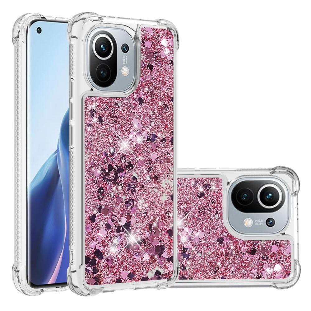 Glitter Powder TPU Case Xiaomi Mi 11 rosa