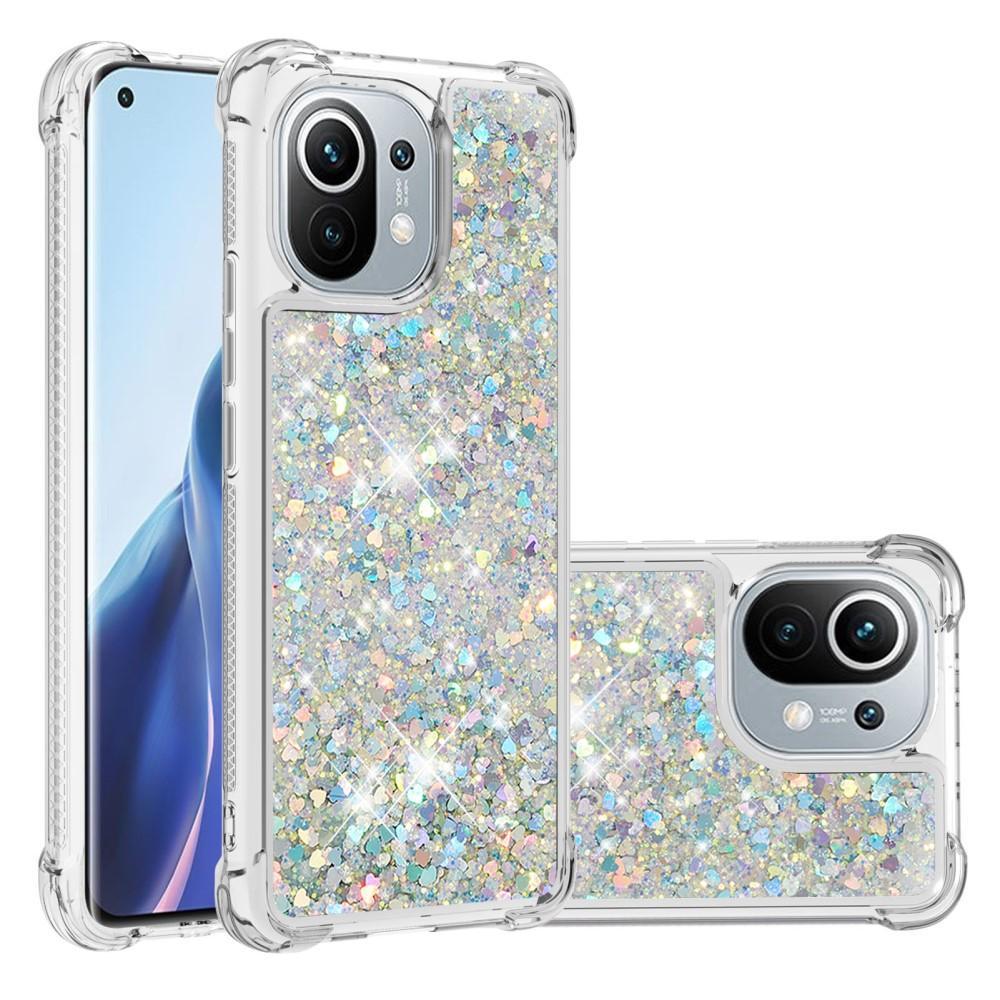 Glitter Powder TPU Case Xiaomi Mi 11 silver