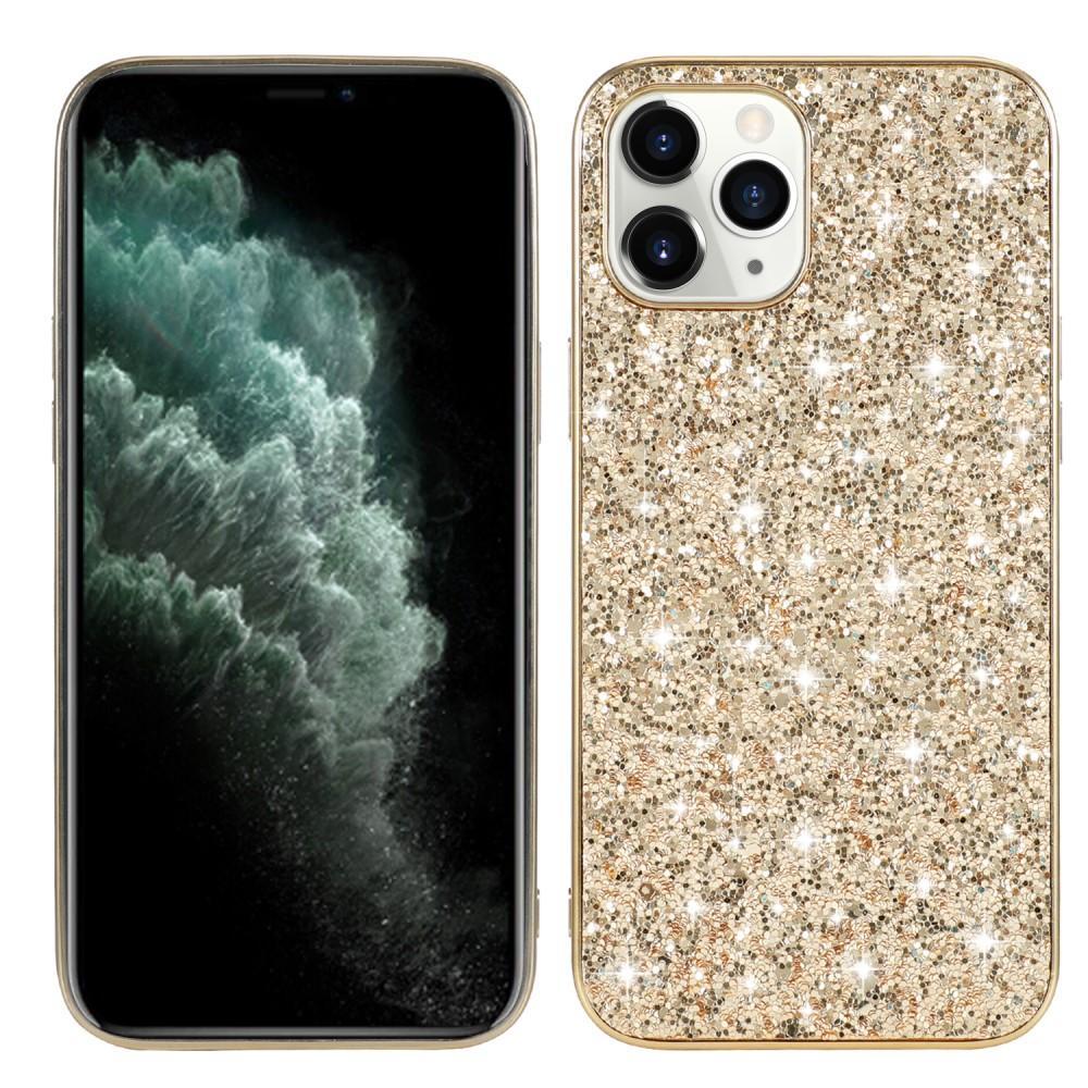 Glitterskal iPhone 12/12 Pro guld