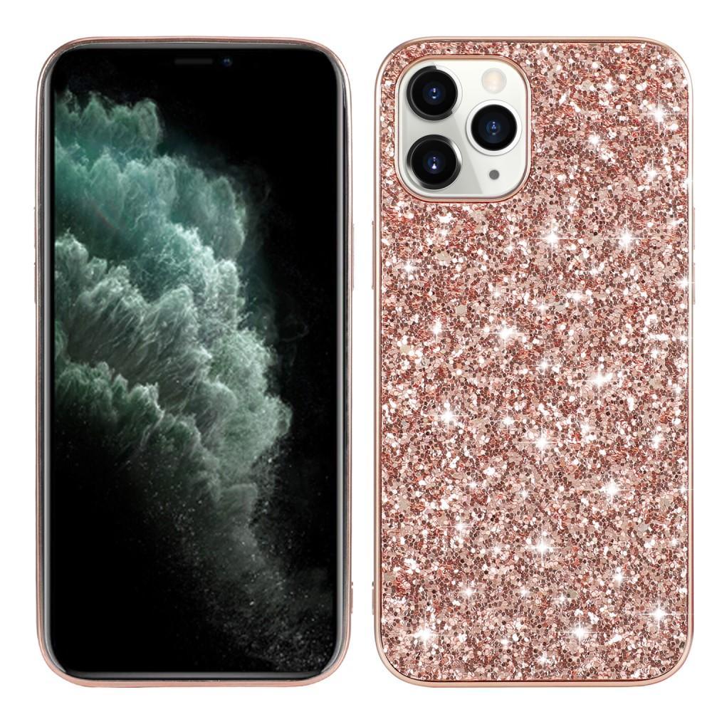Glitterskal iPhone 12/12 Pro roséguld