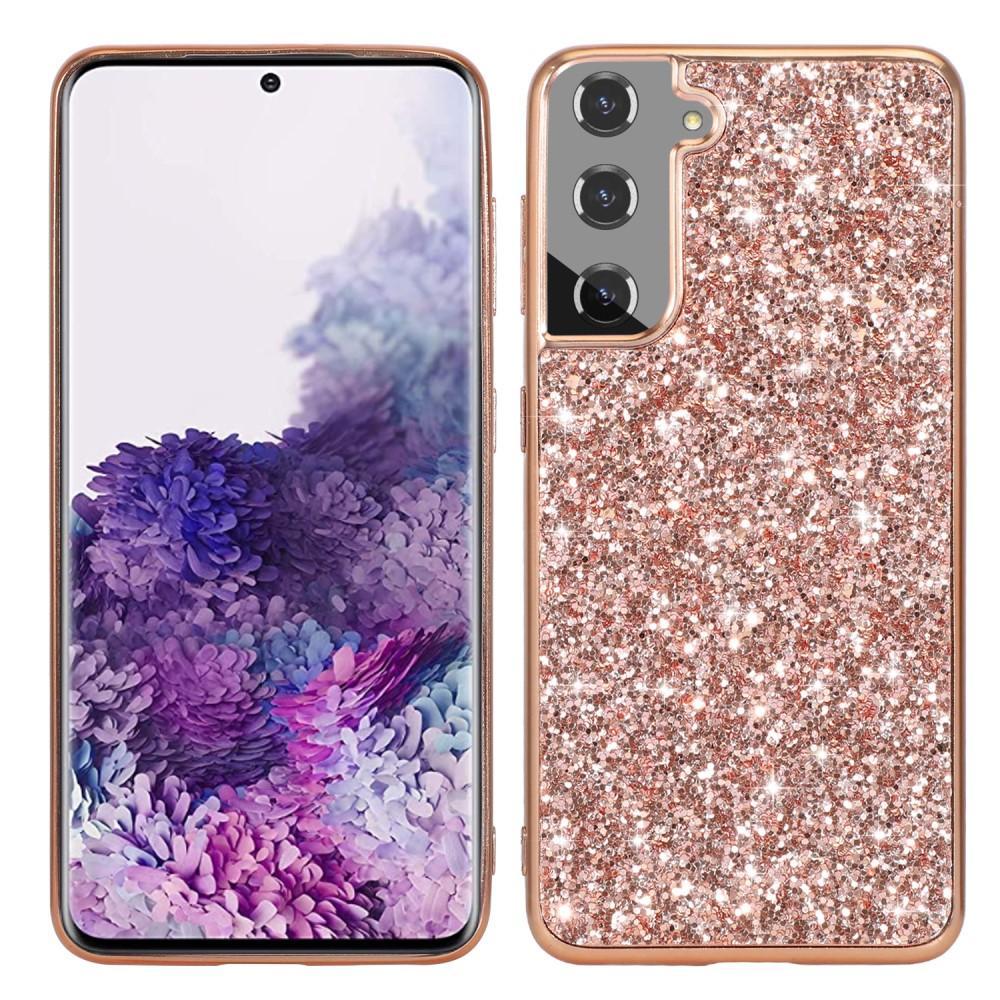 Glitterskal Samsung Galaxy S21 roséguld