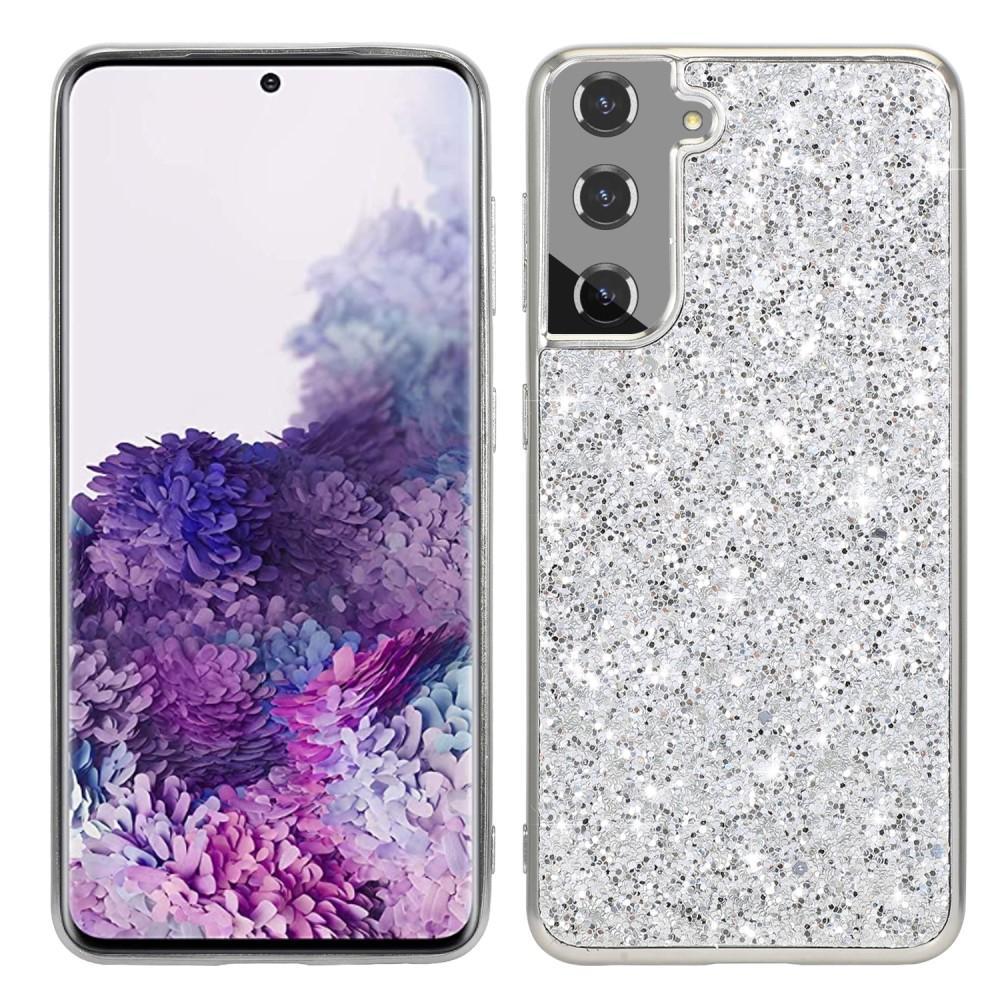 Glitterskal Samsung Galaxy S21 silver
