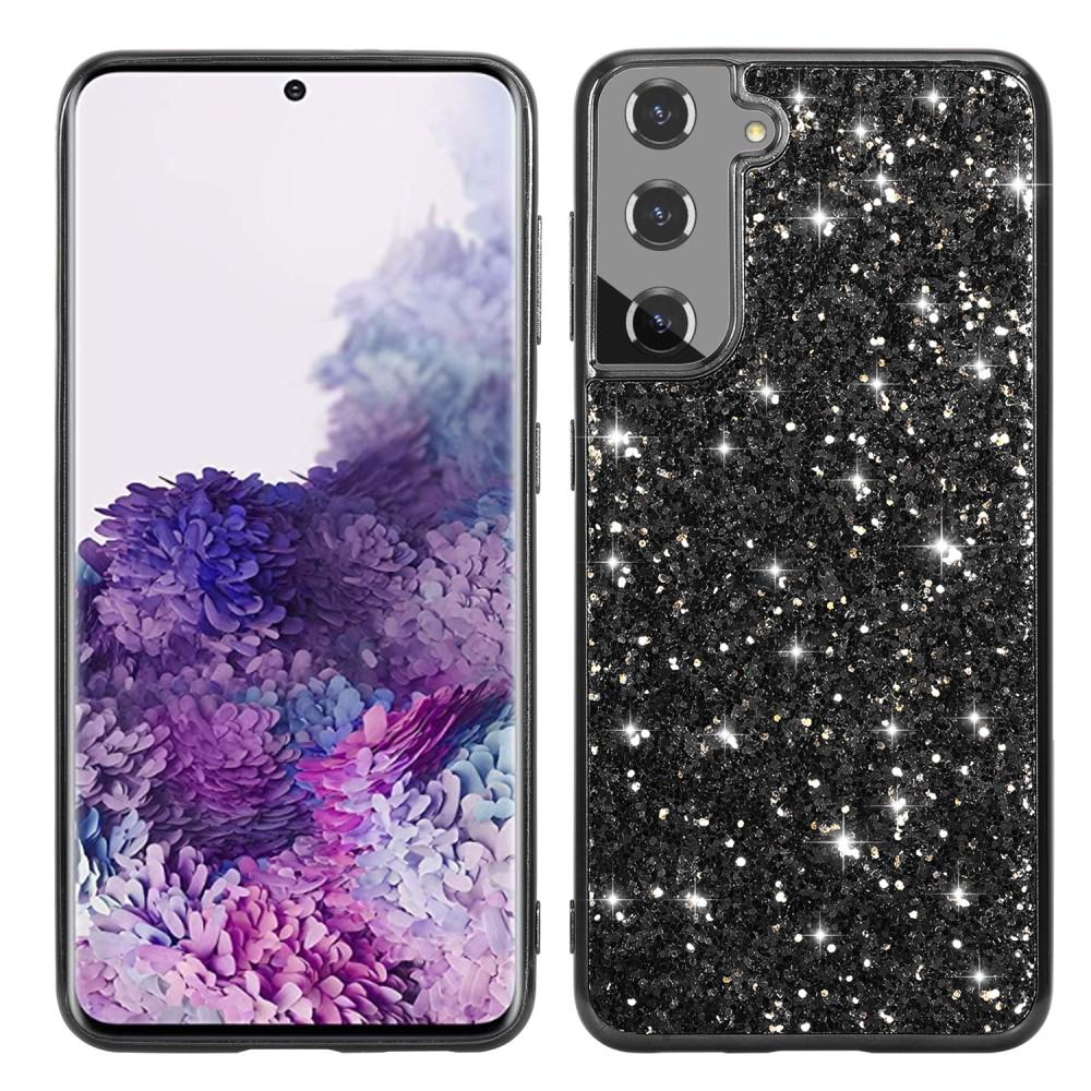 Glitterskal Samsung Galaxy S21 svart