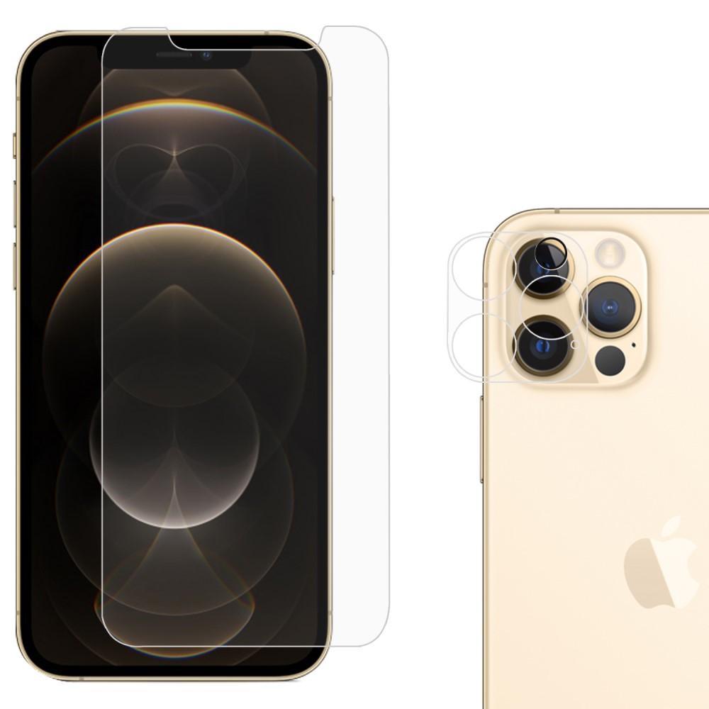 Härdat Glas Skärmskydd & Linsskydd iPhone 12 Pro Max