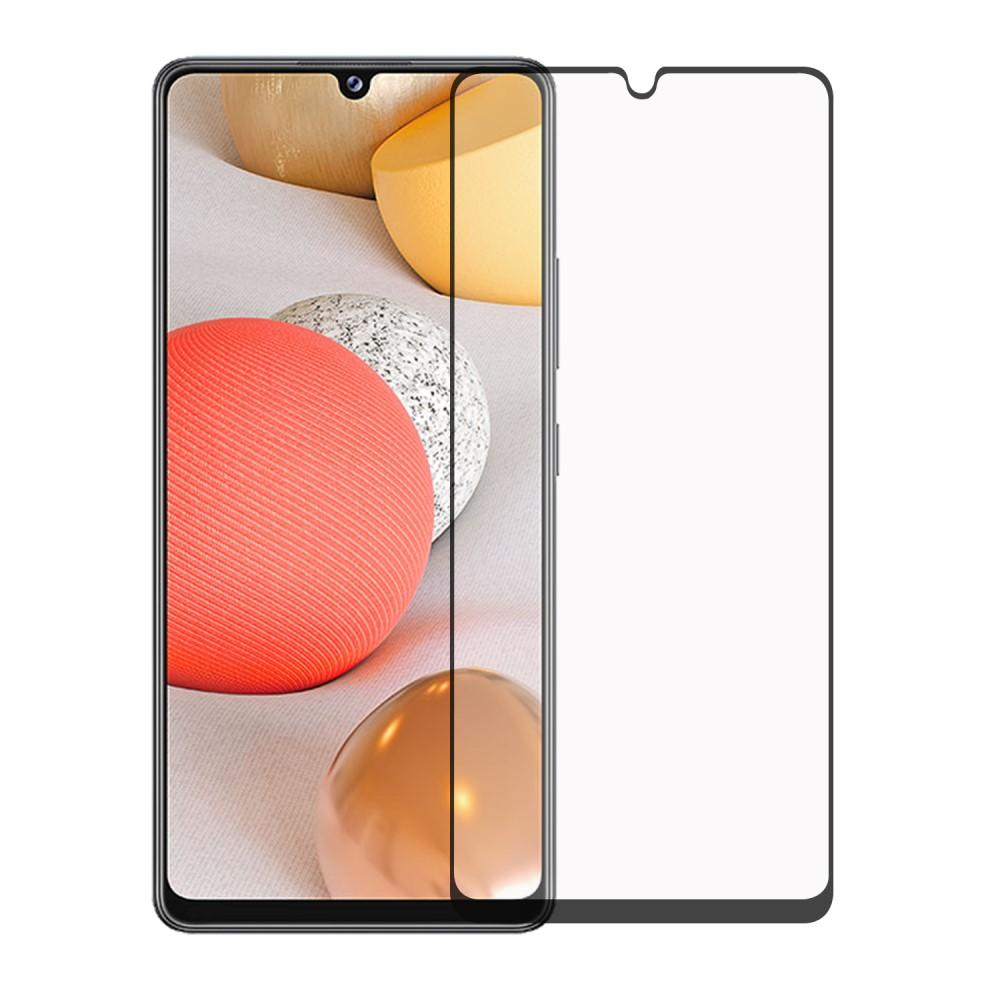 Heltäckande Härdat Glas Skärmskydd Galaxy A42 5G svart