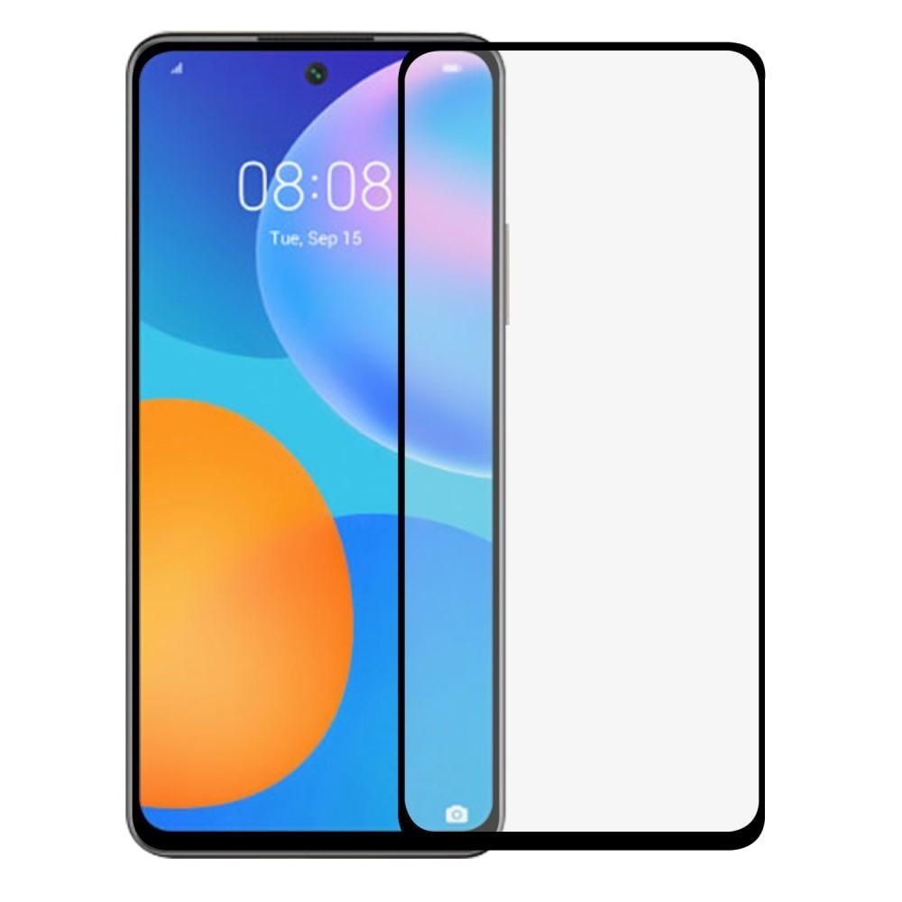 Heltäckande Härdat Glas Skärmskydd Huawei P Smart 2021 svart