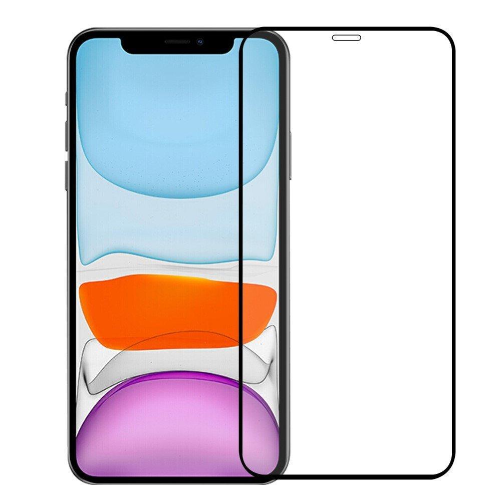 Heltäckande Härdat Glas Skärmskydd iPhone 12/12 Pro svart