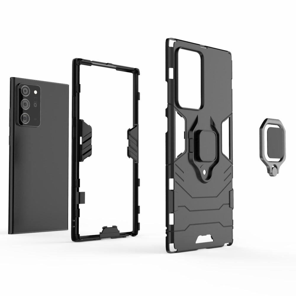 Hybridskal Tech Ring Galaxy Note 20 Ultra svart