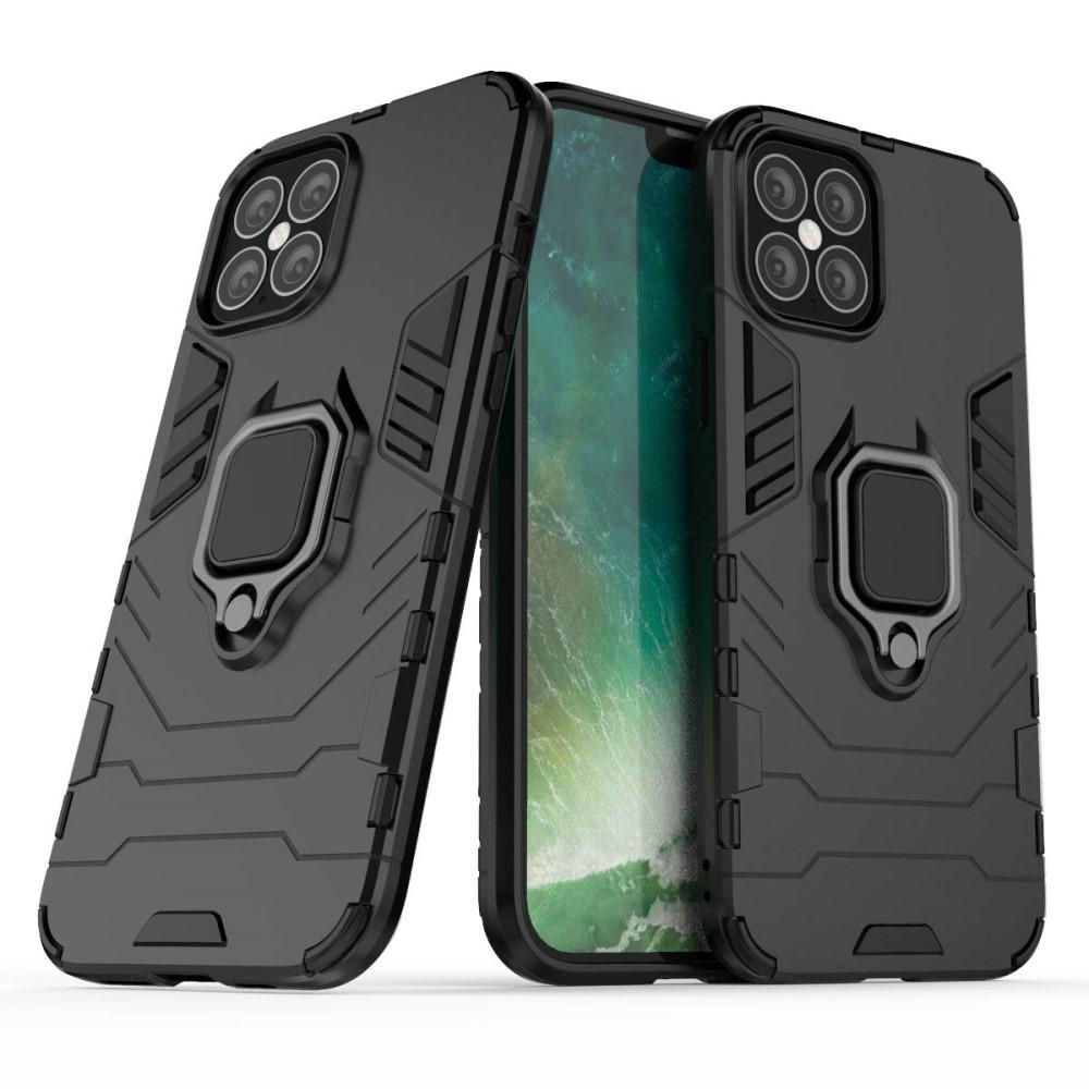Hybridskal Tech Ring iPhone 12 Pro Max svart