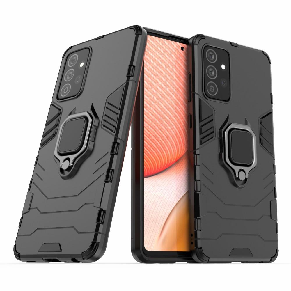 Hybridskal Tech Ring Samsung Galaxy A72 5G svart