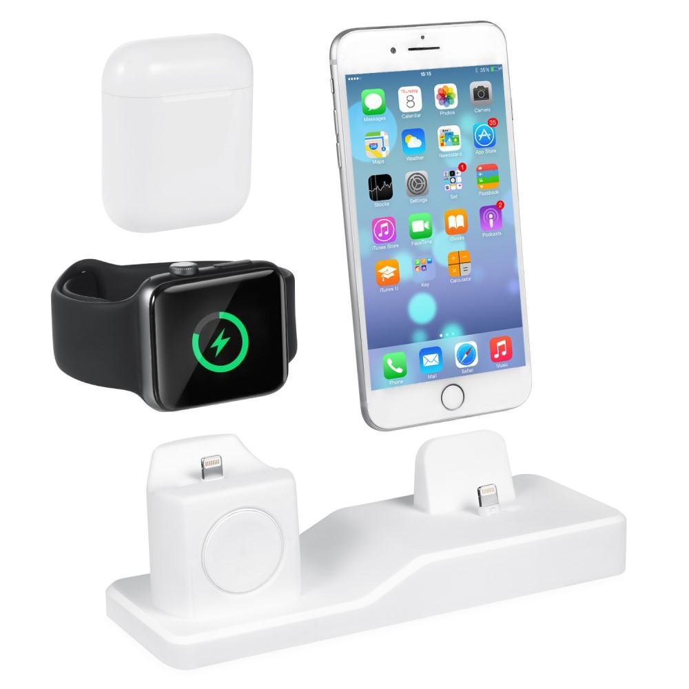 Laddningsställ 3-i-1 Apple AirPods/Watch/iPhone vit