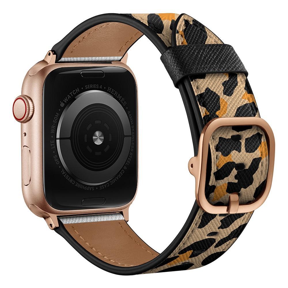 Läderarmband Apple Watch 38/40 mm leopard