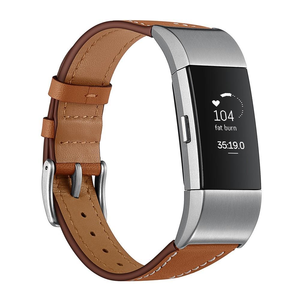 Läderarmband Fitbit Charge 2 brun