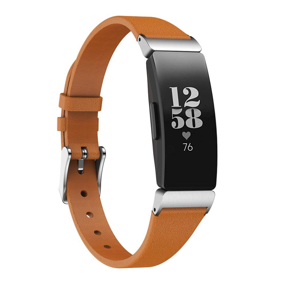 Läderarmband Fitbit Inspire/Inspire HR/Inspire 2 brun