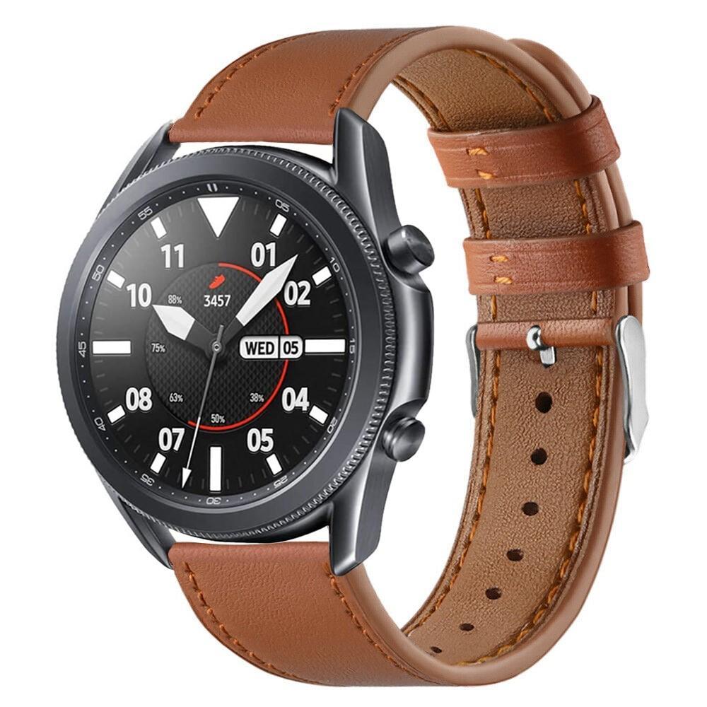 Läderarmband Samsung Galaxy Watch 3 45mm brun